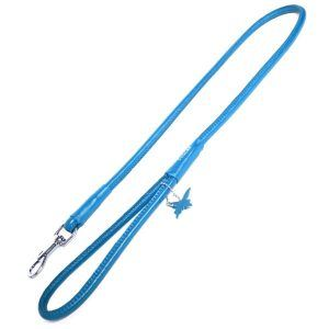 Rundsyet læder førerline-Sort-Ø: 10 mm