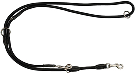 Walker Rundsyet læderline 1,2x220cm sort