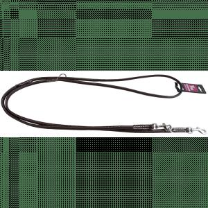 Walker rundsyet læderline 1,2x220 cm brun