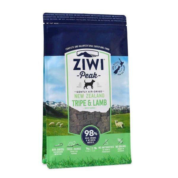 ZiwiPeak Dog Tripe and Lamb tørret kød, 1 kg