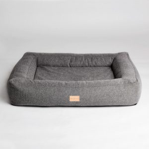Box bed // Smuk hundekurv med memory foam (mørkegrå) - Box bed // Smuk hundekurv med memory foam (mørkegrå)