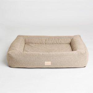Box bed // Smuk hundekurv med memory foam (sand) - Box bed // Smuk hundekurv med memory foam (sand)