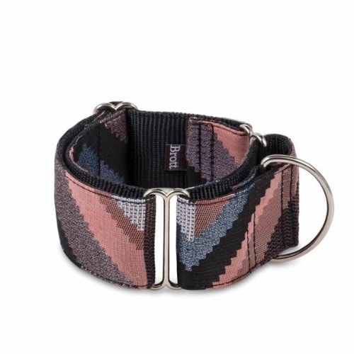 Brott Galera // Martingale halsbånd (Rosa og grå) - Brott Galera // Martingale halsbånd (Rosa og grå)