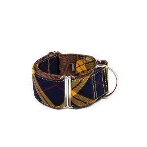 Brott Masella // Martingale halsbånd med tern (gul) - Brott Masella // Martingale halsbånd med tern (gul)