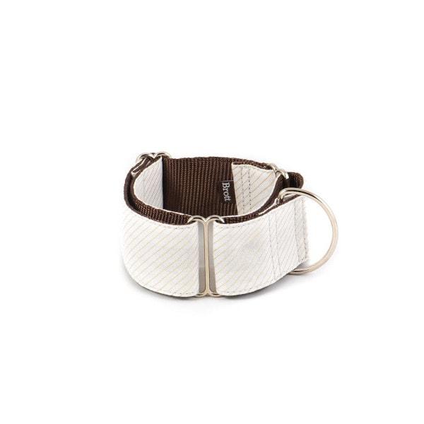 Brott Menorca // Martingale halsbånd (hvid med guldtråde) - Brott Menorca // Martingale halsbånd (hvid med guldtråde)