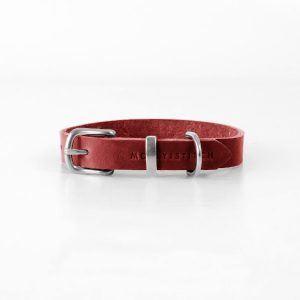 Butter Red // Halsbånd i blødt læder (rød) - Butter Red // Halsbånd i blødt læder (rød)