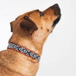 Canuto White // håndvævet halsbånd på blødt læder (sort/hvid) - Canuto White // håndvævet halsbånd på blødt læder (sort/hvid)