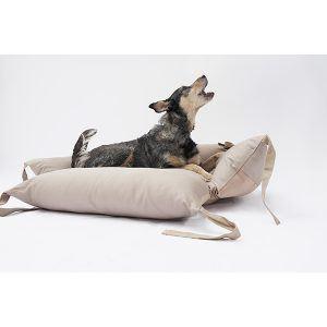 Canuto hundeseng // Hundeseng med fleksible sider, der kan lægges ned (Beige) - Canuto hundeseng // Hundeseng med fleksible sider, der kan lægges ned