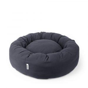 Donut bed Tobine dark grey // Dansk designet rund hundepude (vaskbar) - Donut bed Tobine dark grey // Dansk designet rund hundepude (vaskbar)