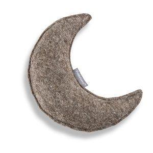 Frida Grey Moon // Naturligt hundelegetøj, måne i uldfilt (med 'piv')