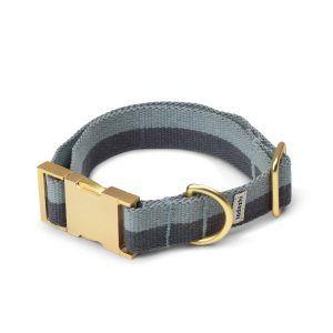Tadazhi // Hundehalsbånd med klikspænde (blå/varm grå)