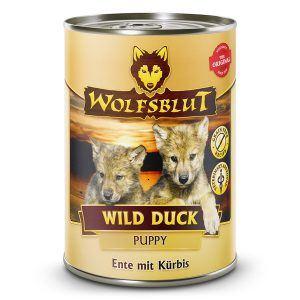 WolfsBlut Wild Duck Puppy dåsemad, 395 gr.