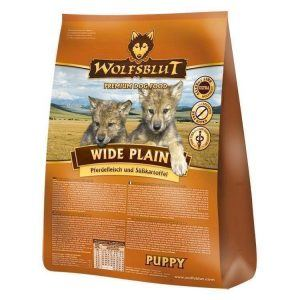 Wolfsblut Wide Plain PUPPY, med hest, 500g