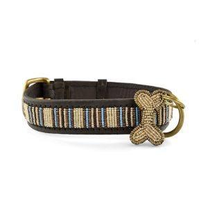 Zinj Blue Nile // Håndlavet hundehalsbånd med perler - Zinj Blue Nile // Håndlavet hundehalsbånd med perler