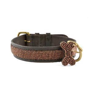 Zinj Copper // Håndlavet hundehalsbånd med perler - Zinj Copper // Håndlavet hundehalsbånd med perler