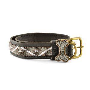 Zinj Kabaka mist // Håndlavet hundehalsbånd med perler - Zinj Kabaka mist // Håndlavet hundehalsbånd med perler