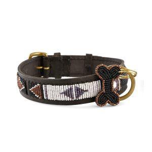 Zinj Swahili // Håndlavet hundehalsbånd med perler - Zinj Swahili // Håndlavet hundehalsbånd med perler
