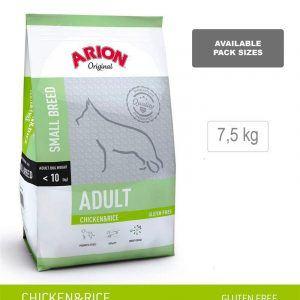 ARION ORIGINAL Adult Small Breed, Kylling & Ris, 7,5 kg - incl gratis levering og 2 slags godbidder
