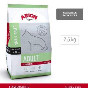 ARION ORIGINAL Adult Small Breed, Lam & Ris, 7,5 kg - incl gratis levering og 2 slags godbidder