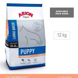 ARION ORIGINAL Puppy Large Breed, Laks & Ris, 12 kg - incl gratis levering og 2 slags godbidder