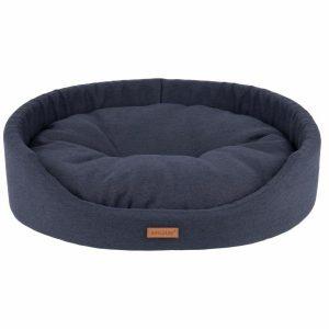Amiplay Montana Oval Hundeseng - Flere Størrelser - Sort