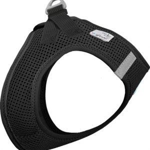 Curli Vest sele Air-mesh Sort 3XS Brystmål 24-28 cm