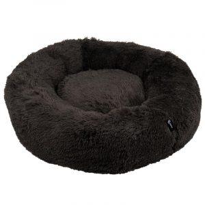 District 70 Fuzz Fluffy Donut Hundeseng - Mørkegrå