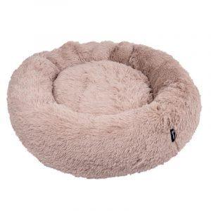 District 70 Fuzz Fluffy Donut Hundeseng - Sand