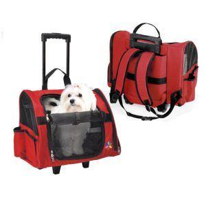 Hundetaske, max trolley-Rød