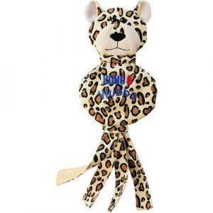 Kong Wubba No Stuff Cheetah Hundelegetøj - 40x15cm - Med Pivelyd og Skamlelyd