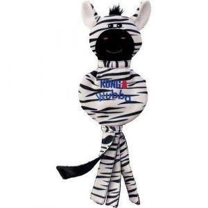 Kong Wubba No Stuff Zebra Hundelegetøj - 40x15cm - Med Pivelyd og Skamlelyd