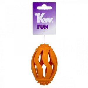 Kw Fun Hundelegetøjs Gummi Rugbybold Hul - 12cm