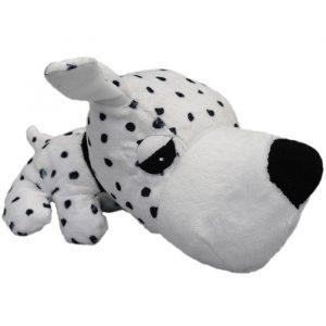 Kw Hundelegetøjs Plys Bamse - Hvid Hund - Med Piv - 26cm