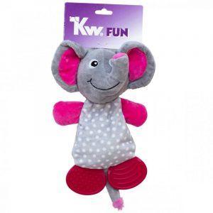 Kw Hundelegetøjs Plys Elefant - Med Gummifødder - 22cm