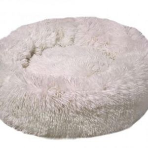 Lounge Scanidinavia Donut Hundeseng - Large - Ø80x11cm - Hvid
