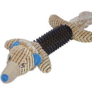 Nobby Hundelegetøjs Plys Ulv - Med TPR Gummi - 57cm
