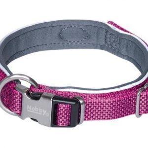 Nobby Royal Hundehalsbånd - Med Blød Neopren - Pink - Flere Størrelser