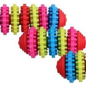 PaWise Hvalpelegetøjs Biderulle - Regnbue - Flere Størrelser