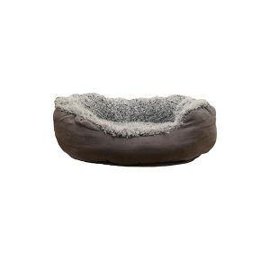 Rosewood Faux Ruskind Oval Hundeseng - 75x40cm