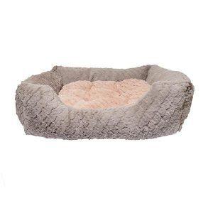 Rosewood Grå & Pink Luksus Hundeseng - Flere Størrelser