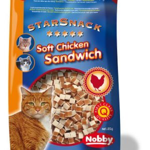 StarSnack Katte Snack Godbidder - Med Blød Kyllinge Sanwich - 85g - 1,5% Fedt