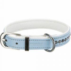 Trixie Active Comfort Hundehalsbånd - Med Rhinsten - Lyseblå