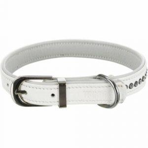 Trixie Active Comfort Hundehalsbånd - Med Rhinsten - hvid
