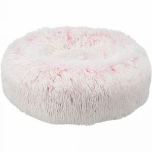 Trixie Harvey Donut Hundeseng - Ø50cm - Hvid & Pink