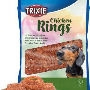 Trixie Hunde Snack Kyllinge Ringe - Med Kyllingelever - 100g