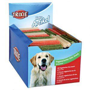 Trixie Hunde Snack Tyggepinde med Ris - 12cm - Light - Vegetaris