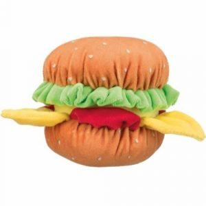 Trixie Hundelegetøjs Plys Burger - 13cm - Med Lyd