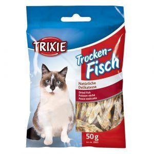 Trixie Katte Snack Godbidder Ansjoser - 50g - 100% Tørret Fisk