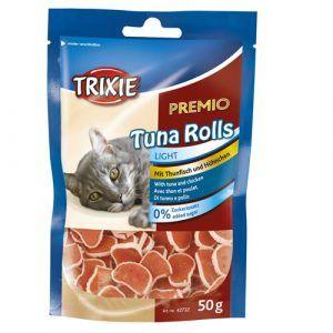 Trixie Katte Snack Godbidder Premio Tun Ruller Uden Sukker - 50g