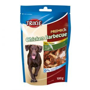 Trixie Premio Hunde Snack Godbidder - Med Kylling Barbecue - 100g - Sukkerfrie - 65% Kød